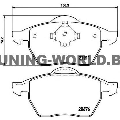 Накладки BREMBO за Audi A3 (8L1) 1.8 T - 150 коня бензин
