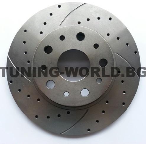 Спирачни дискове ROTINGER Graphite Line Предна ОС дупчен нарязан 2980