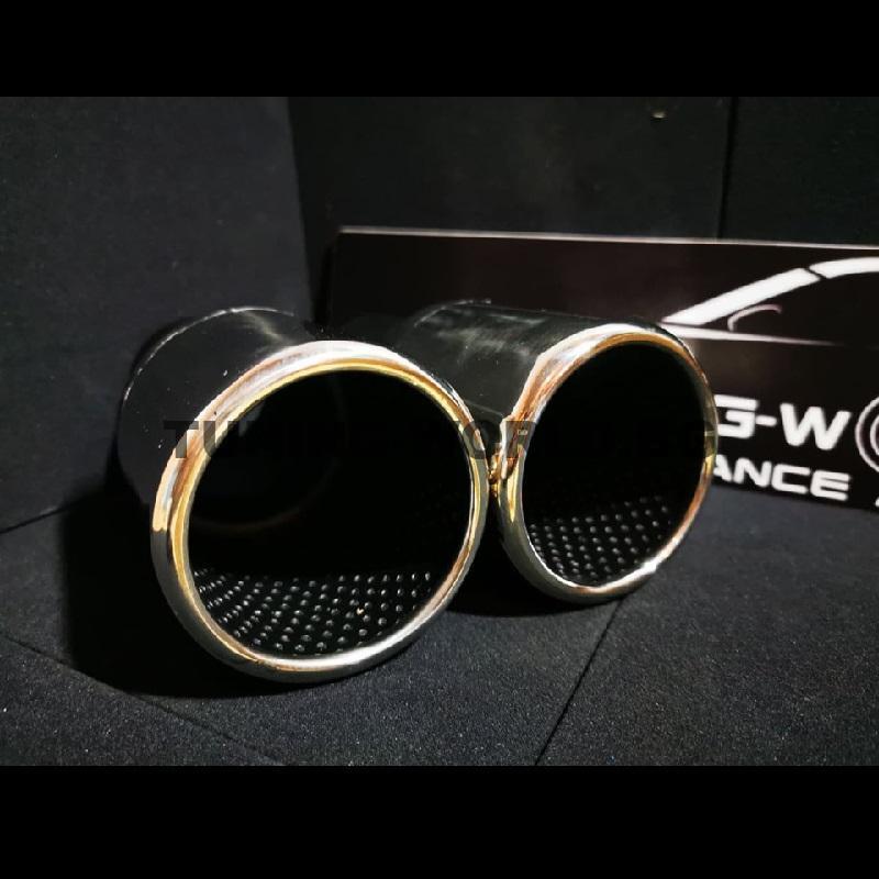 универсален накрайник 90мм полирана неръждаема стомана - кръгъл