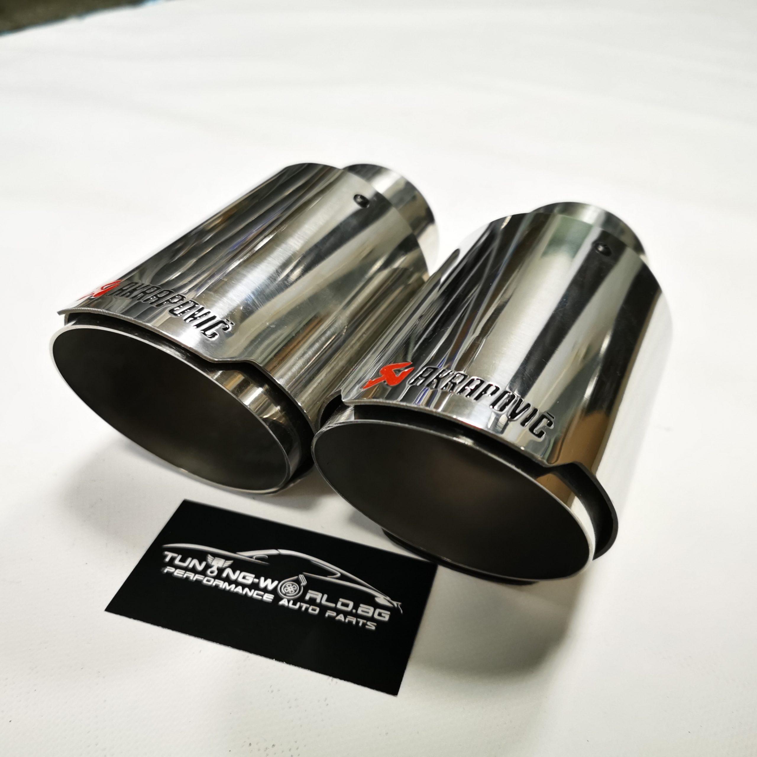 90мм универсален накрайник тип Акрапович неръждаема стомана
