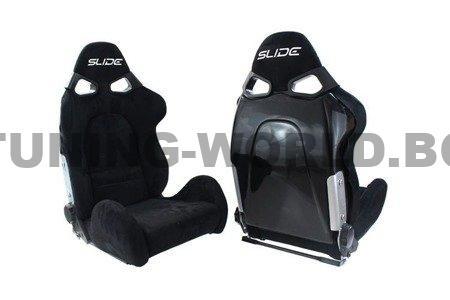 Racing seat SLIDE Cuga Suede Black