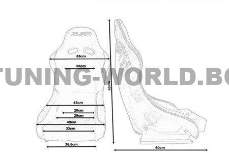 Racing seat SLIDE RS suede Black S