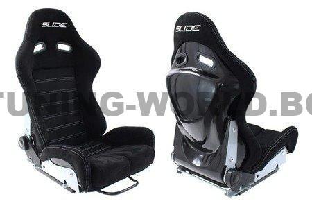 Racing seat SLIDE X3 suede Black L