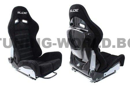 Racing seat SLIDE X3 suede Black M